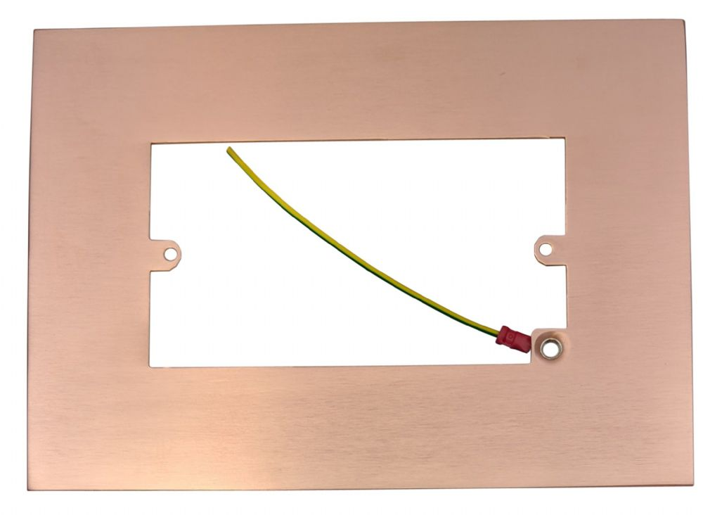 G&H 810RG Rose Gold Finger Plate Surround 212mm x 152mm for Double Plate